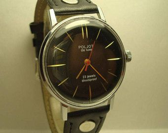 1b8cc03d8 Men's Vintage Watch | Poljot Watch | Soviet Watch | Poljot de Luxe Watch |  Analog