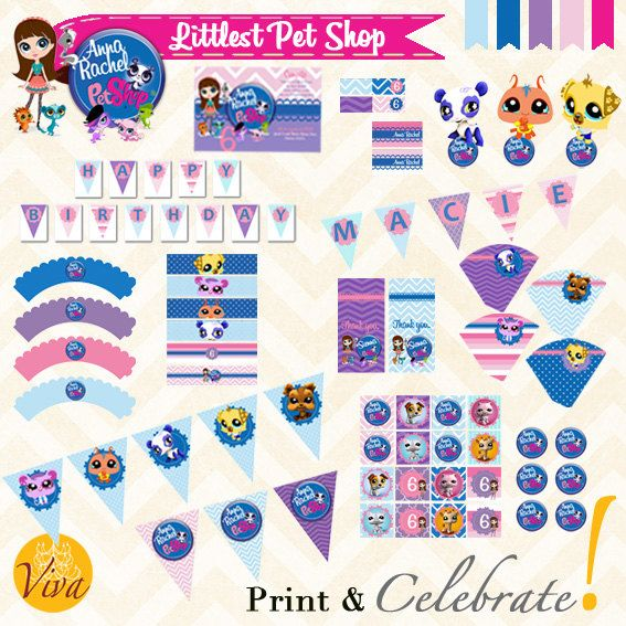 Littlest Pet Theme Custom Printables By