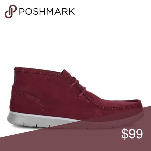 30e4481905d New UGG Hendrickson Red Leather Chukka Boots Crimson/Burgundy ...