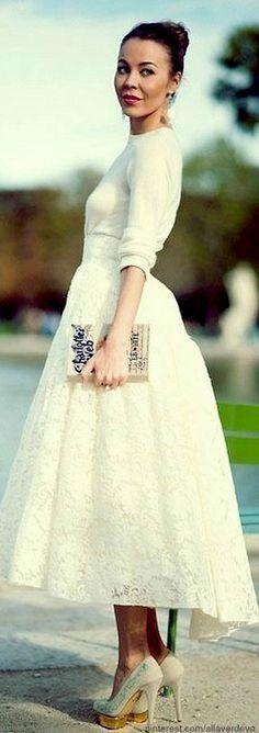 white midi wedding dress google search