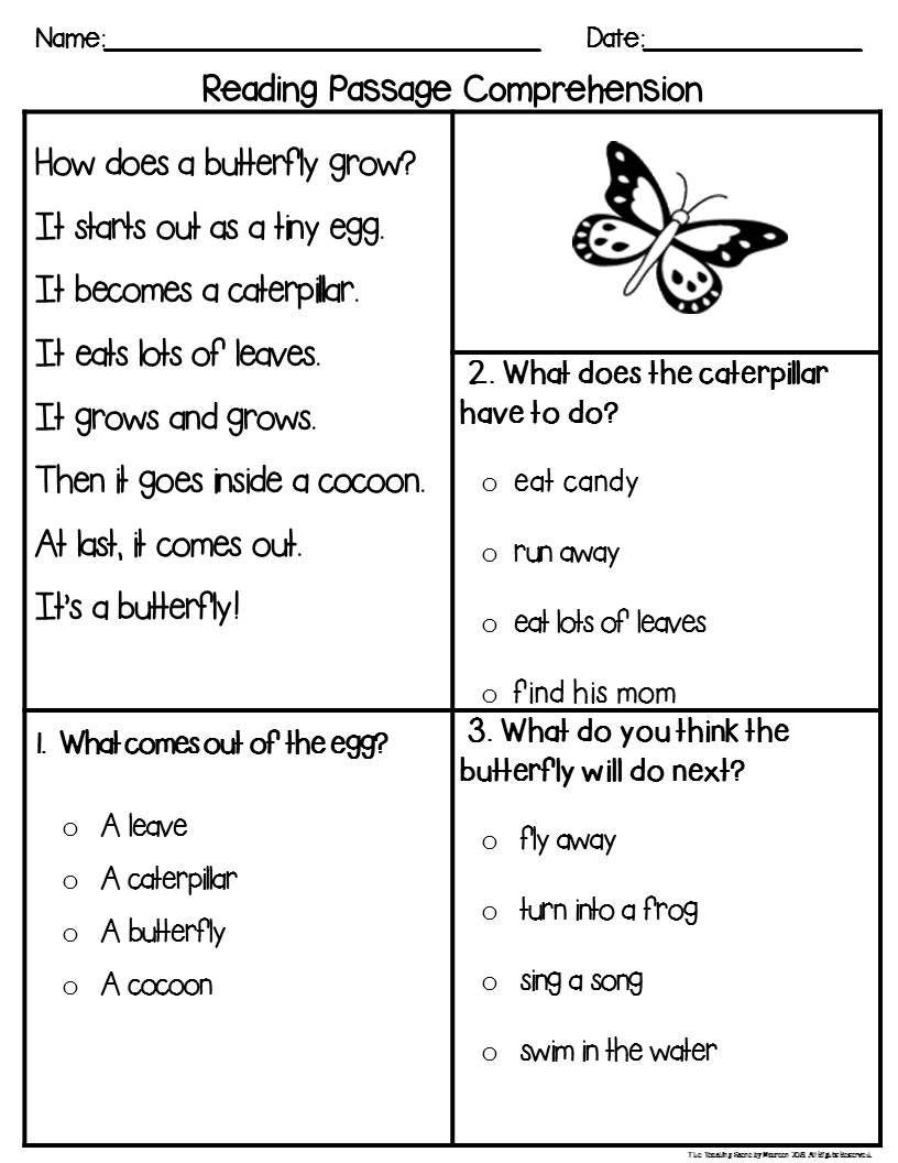 First Grade Reading Comprehension Assessment Booklets Resource Reading Comprehension Assessments First Grade Reading Comprehension Comprehension Assessments [ 1056 x 816 Pixel ]