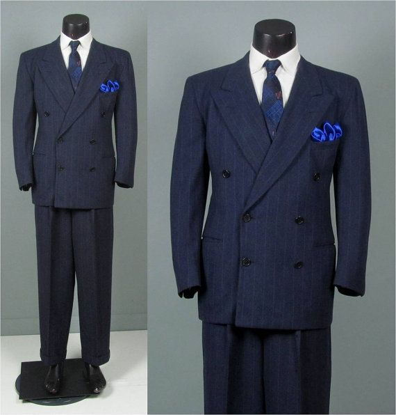 Boy double breasted pinstripe suit