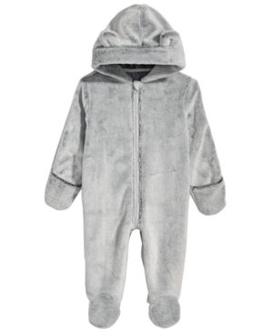 54127e186 First Impressions Baby Boys   Girls Hooded Faux-Fur Footed Snowsuit ...