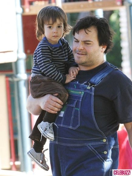 Jack Black And His Shaggy Haired Son Thomas Celebrity Kids Cute