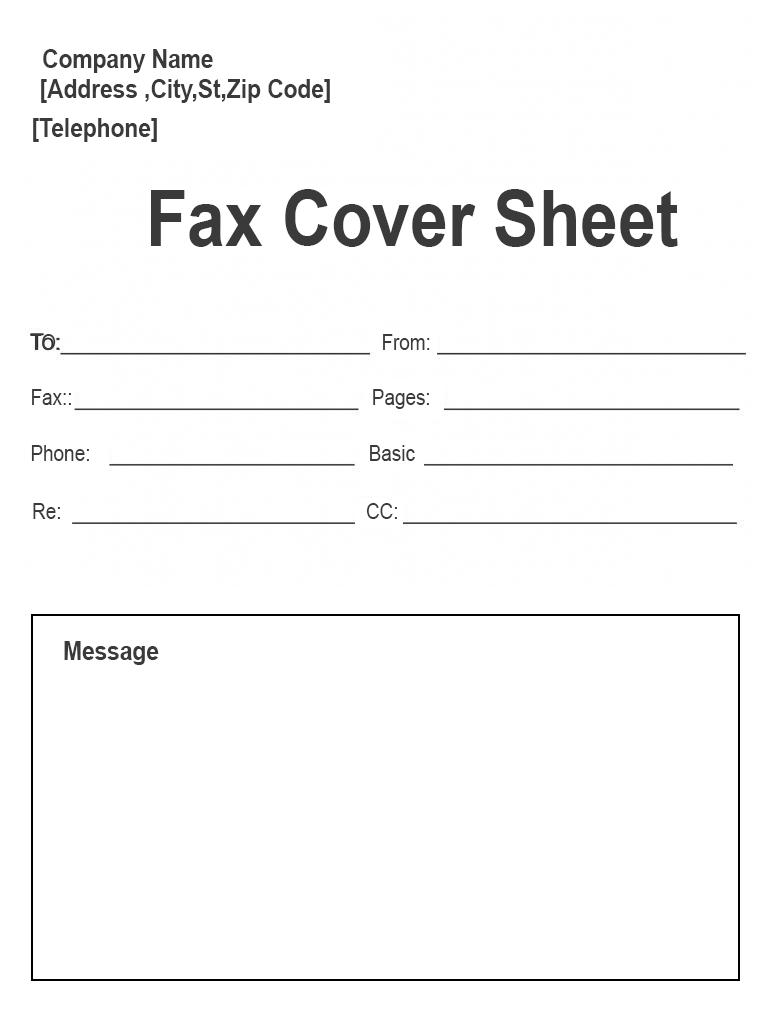 Free Printable Personal Fax Cover Sheet Template In 2021 Fax Cover Sheet Cover Sheet Template Template Printable
