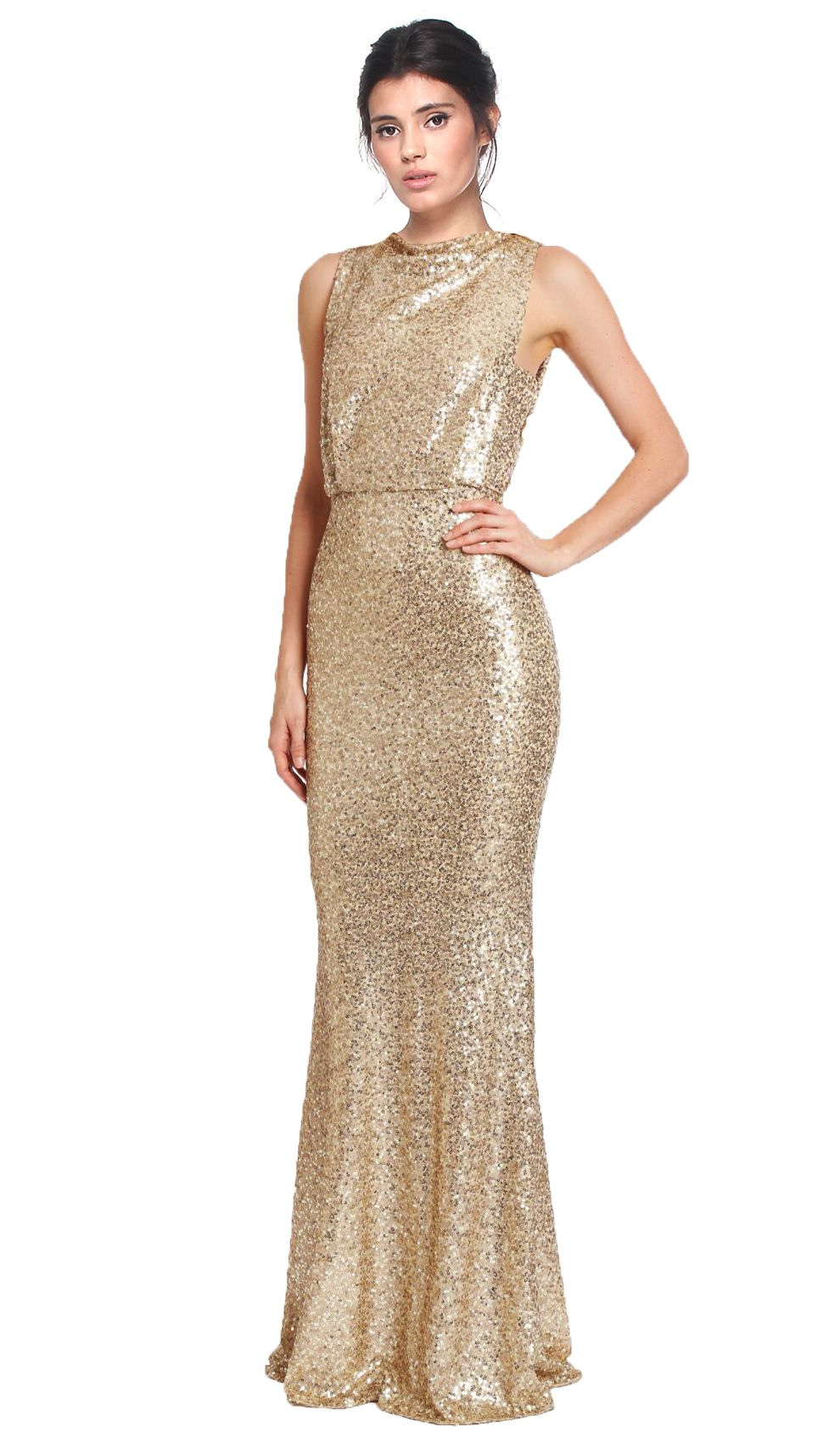 Hire this incredible golden all over sequin gown with open back detail. The bateau neckline with a drawn in waist and dazzling gold sequins makes for the most eye popping gown this season. Be bold and hire evening gowns from Badgley Mischka that set you apart from the crowd, or rent designer dresses that ensure you create a spectacular scene this party season. The train that falls so elegantly with your every step will ensure you glide so effortlessly into any special event. Sequin gowns and…