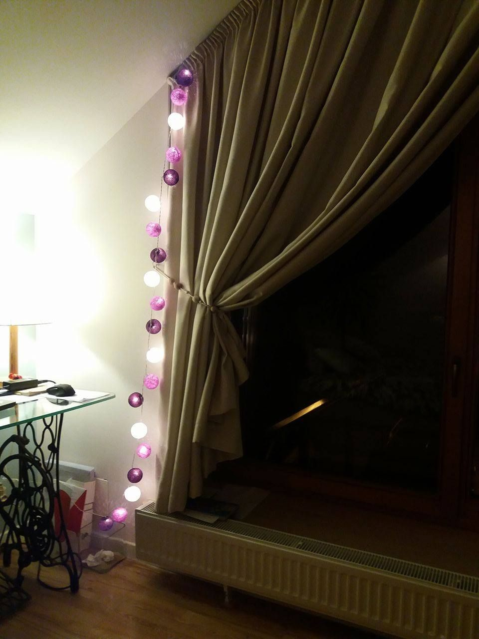 cotton ball lights at home. ideas for decoration   Cotton ball ...