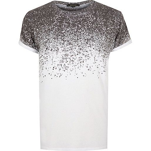 white splatter print tshirt mens wear pinterest