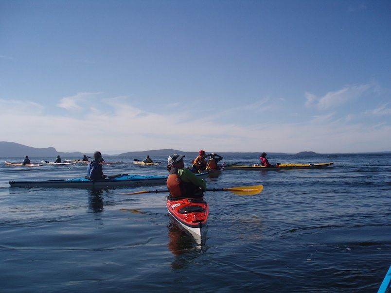 Paddling the Eddyline Fathom LV off one of the San Juan Islands in 2012