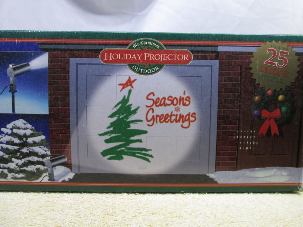 Mr Christmas Projector.Outdoor Holiday Projector Mr Christmas 25 Slides Themed For