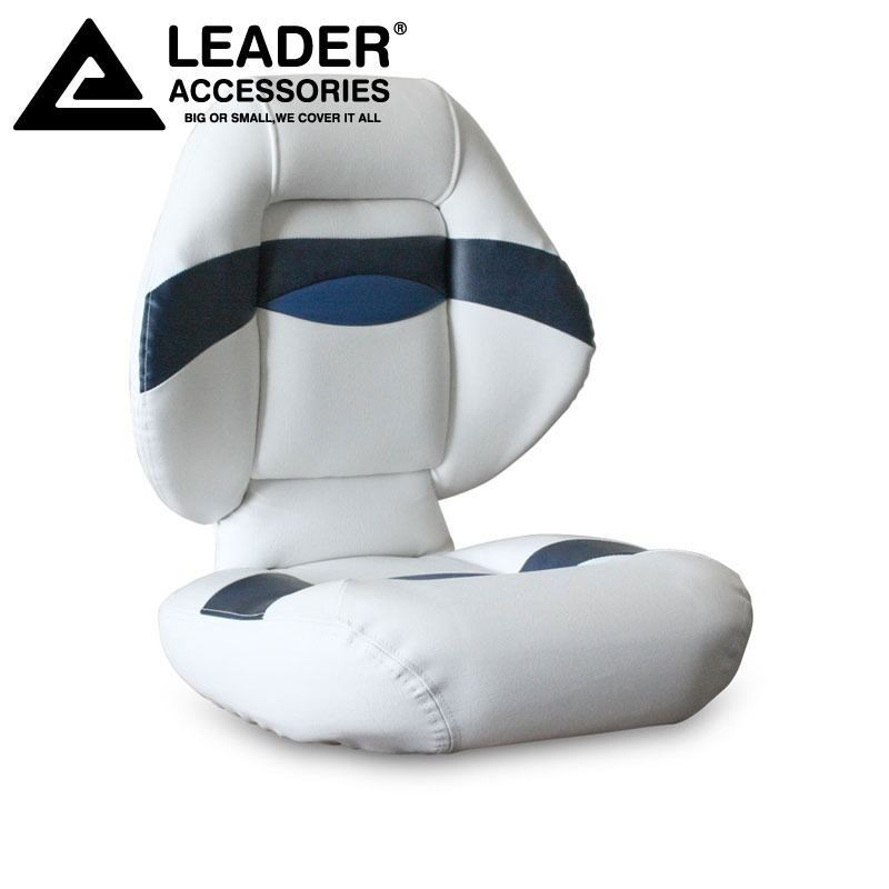 Leader Accessories Bass Boat Seat Fishing Chair Blue White Boat