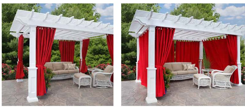 Pergola Blinds Curtains And Privacy Wall Ohio Hardwood
