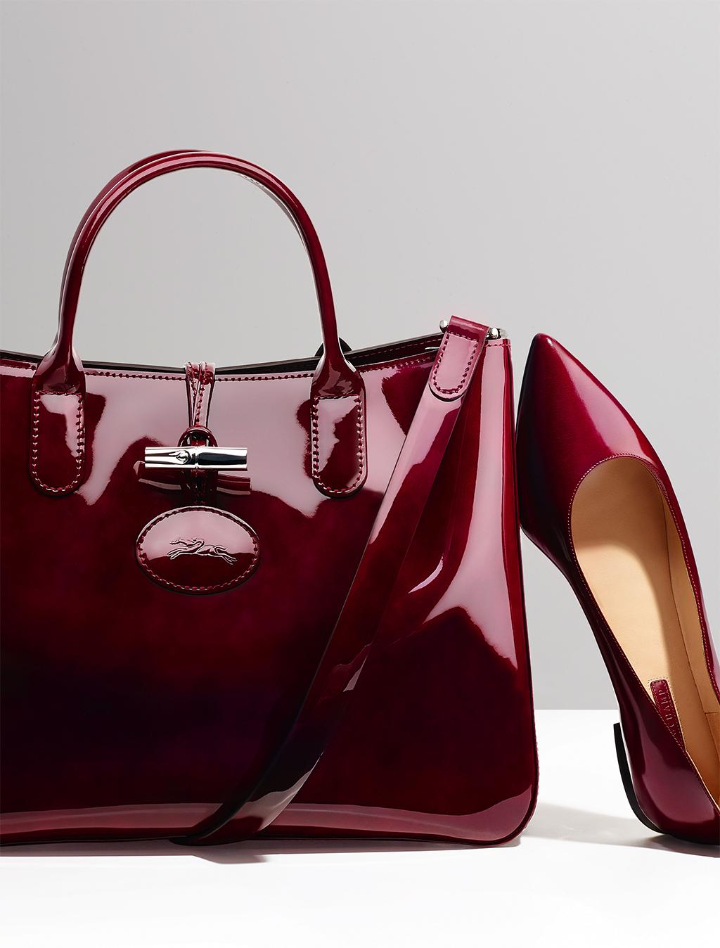 Online Discount Portable Longchamp Eiffel Tower Bags Purple