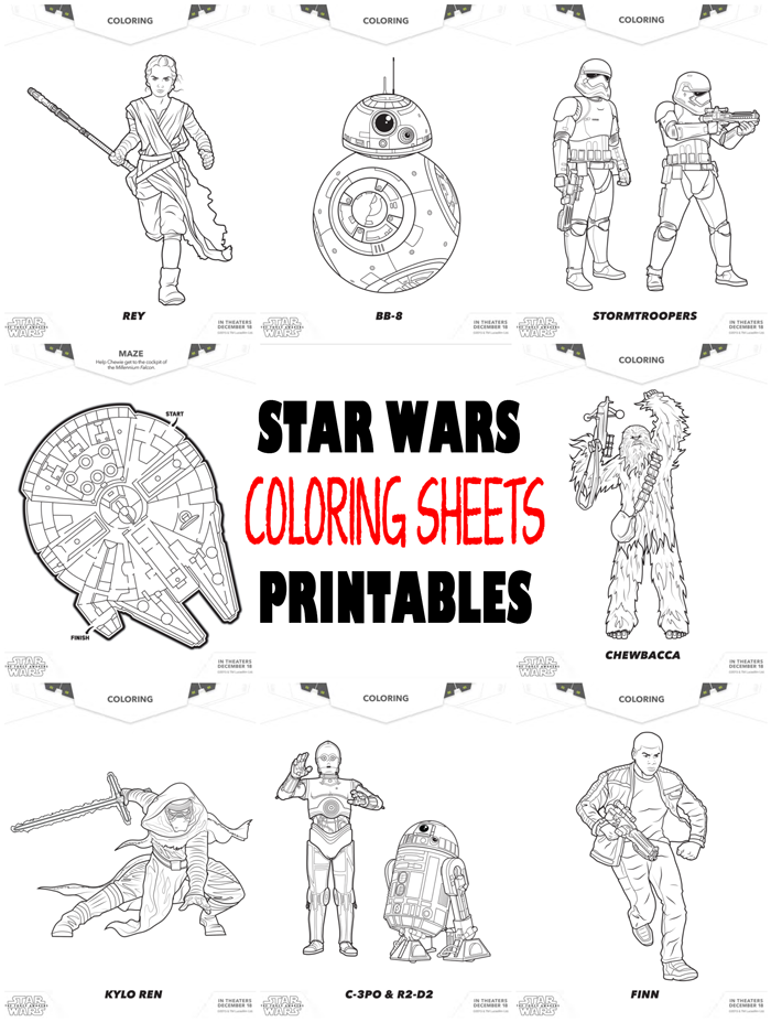 Kleurplaten Star Wars Force Awakens.Star Wars Printables He Pinterest Kleurplaten Feestje And