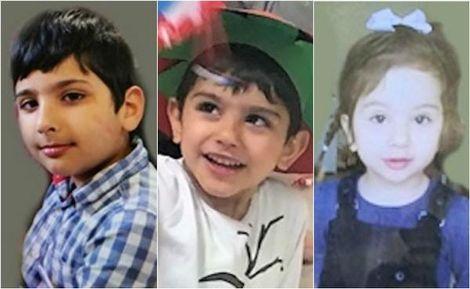 Hassan (5), Nazih (4) en hun zusje Alma (2). Hun achternaam is Jasem.: