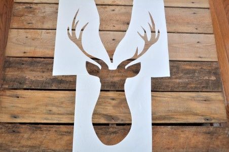Deer Head Make A Large Stencil Silhouette Cameo