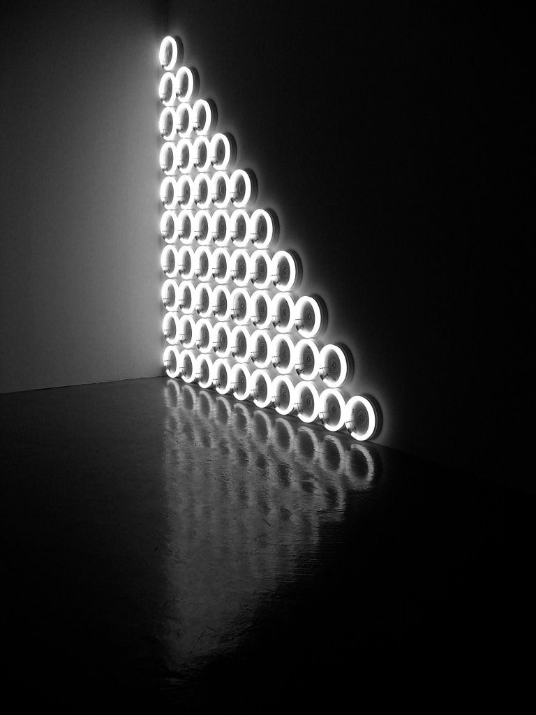 Dan Flavin Untitled To A Man George McGovern 1972 Warm White Fluorescent Tubes 305 X Cm