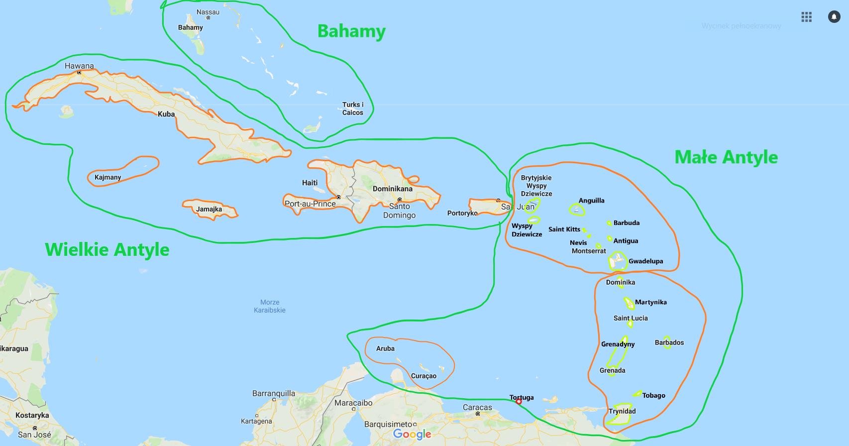 Mapa Fizyczna świata Wyspy Część 2 Afryka Australia I Ameryki