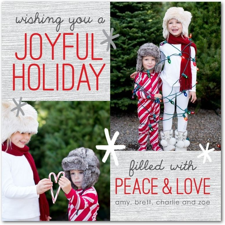 Filled With Peace - Christmas Cards in Tomato or Slate | Robyn ...