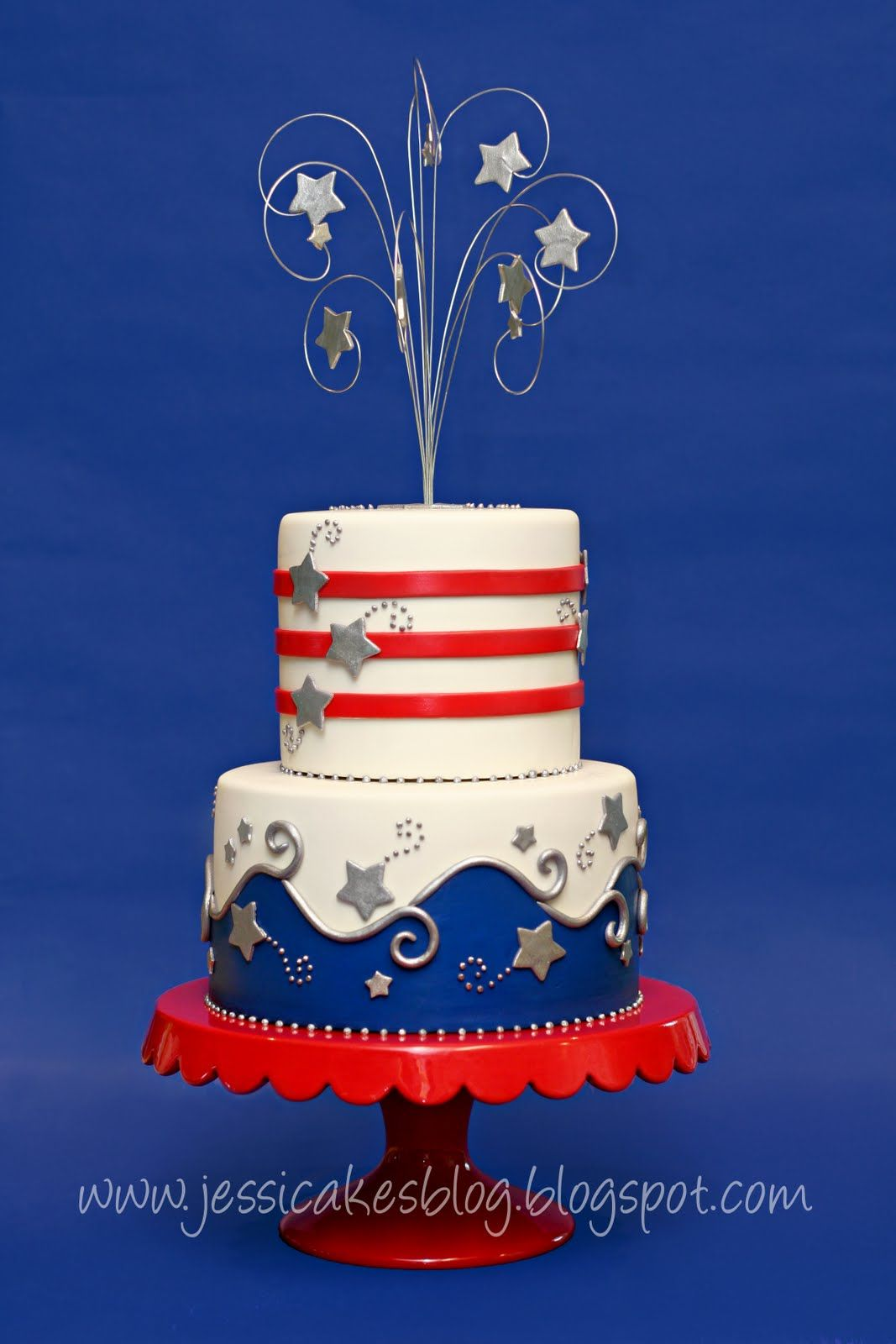Cake Decorations For July 4th : Happy 4th of July Cake Cakes Beautiful Cakes for the ...