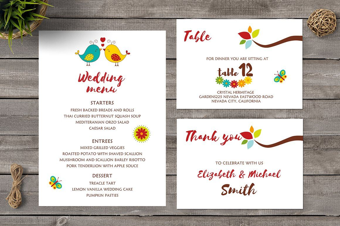 Cartoon Love Birds Wedding Invite (With images)  Bird wedding