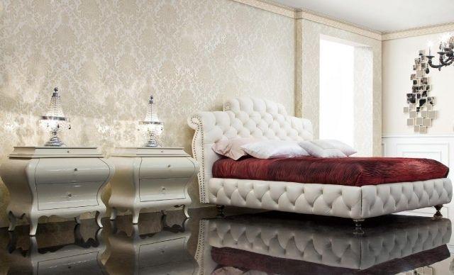 Papier peint baroque 30 id es de luxe et exub rence - Papier peint chambre a coucher adulte ...