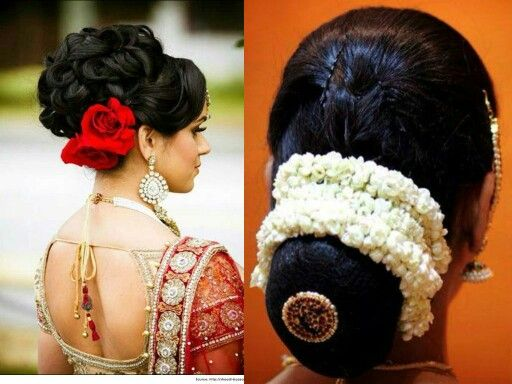 Rose And Jasmine Hairstyle Bridal Hair Buns Wedding Bun Hairstyles Indian Wedding Hairstyles
