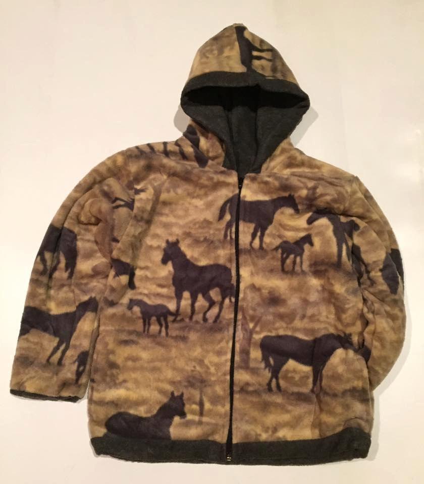 New Winter Fleece Gray Dogs Puppy Kids Boys Girls Jacket Hooded Coat Reversible