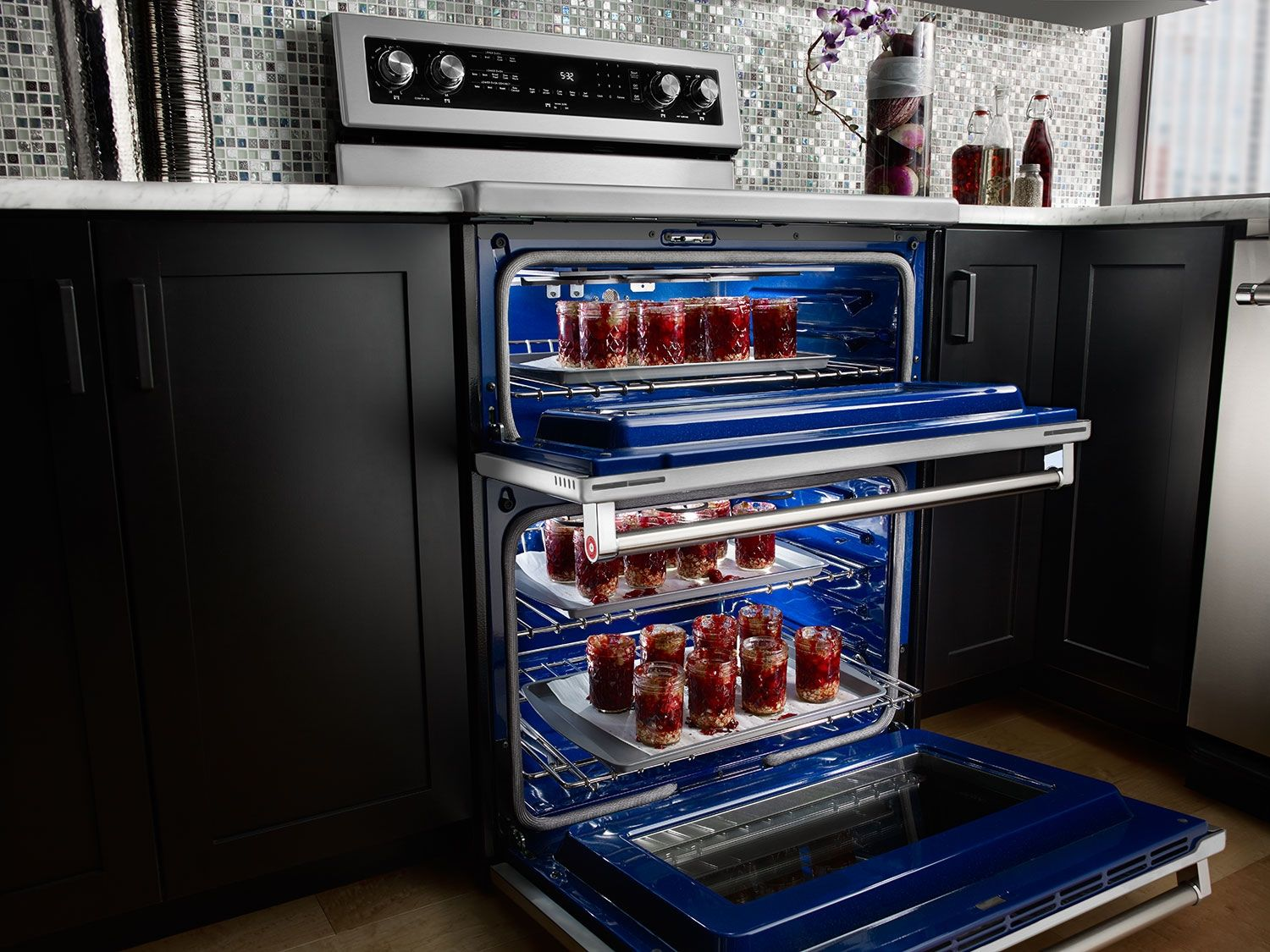 Charmant Self Cleaning Freestanding Double Oven Electric Convection Range    Stainless Steel   Zoom