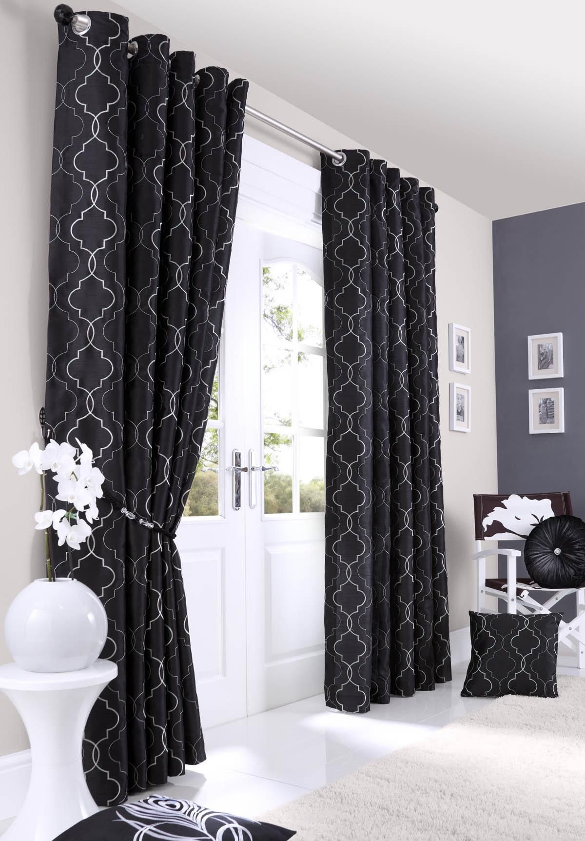 Black curtains bedroom - Midtown Eyelet Lined Curtains
