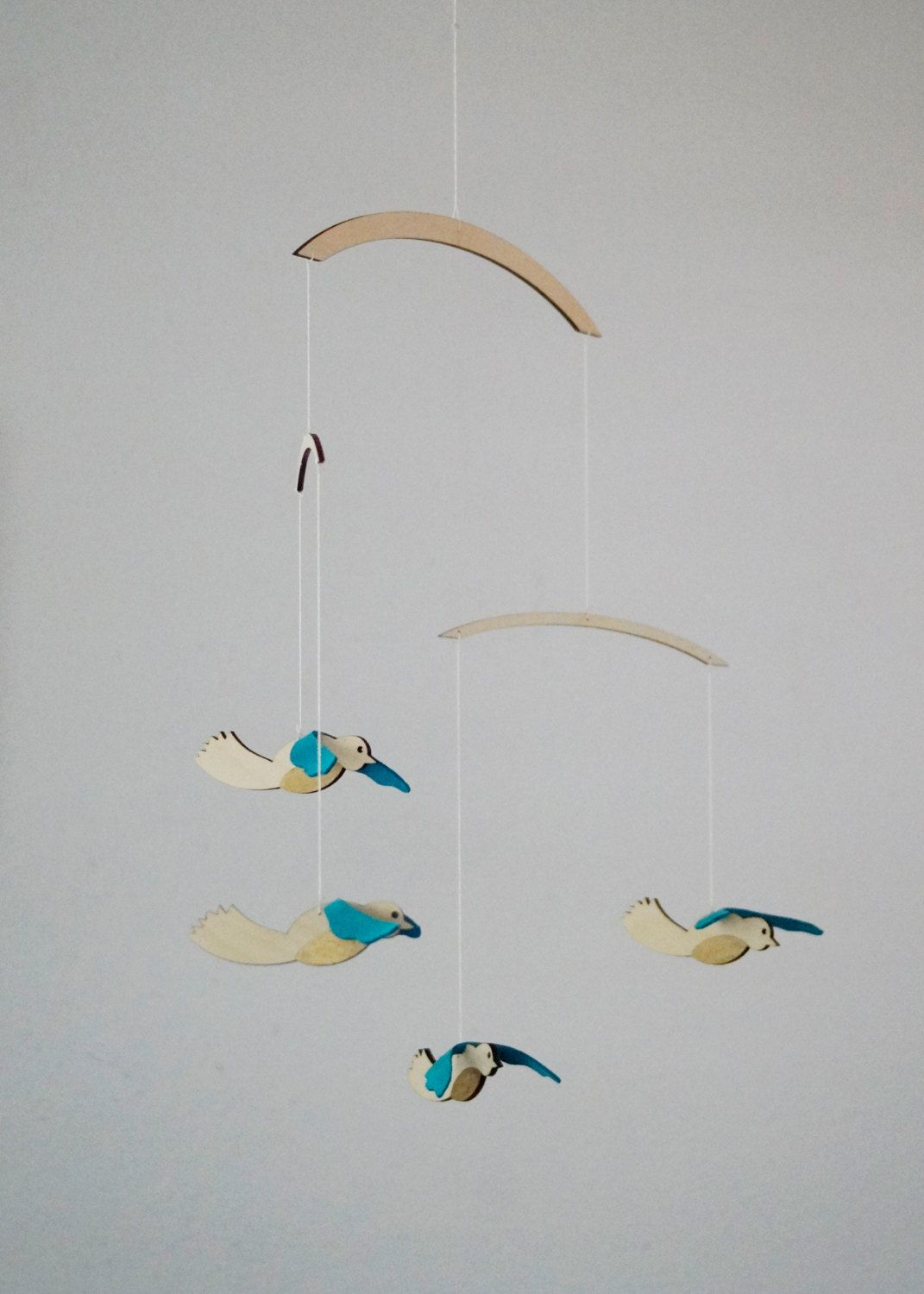 Bird Mobile Baby Wooden Nursery By Imaginationdesign On Etsy