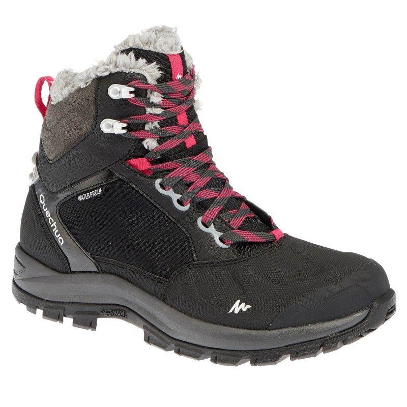 Sicak Tutan Karda Yuruyus Ayakkabilari Kadin Sh520 X Warm Kar Ayakkabisi Bayan Ayakkabi Siyah Cizmeler Yuruyus Botu