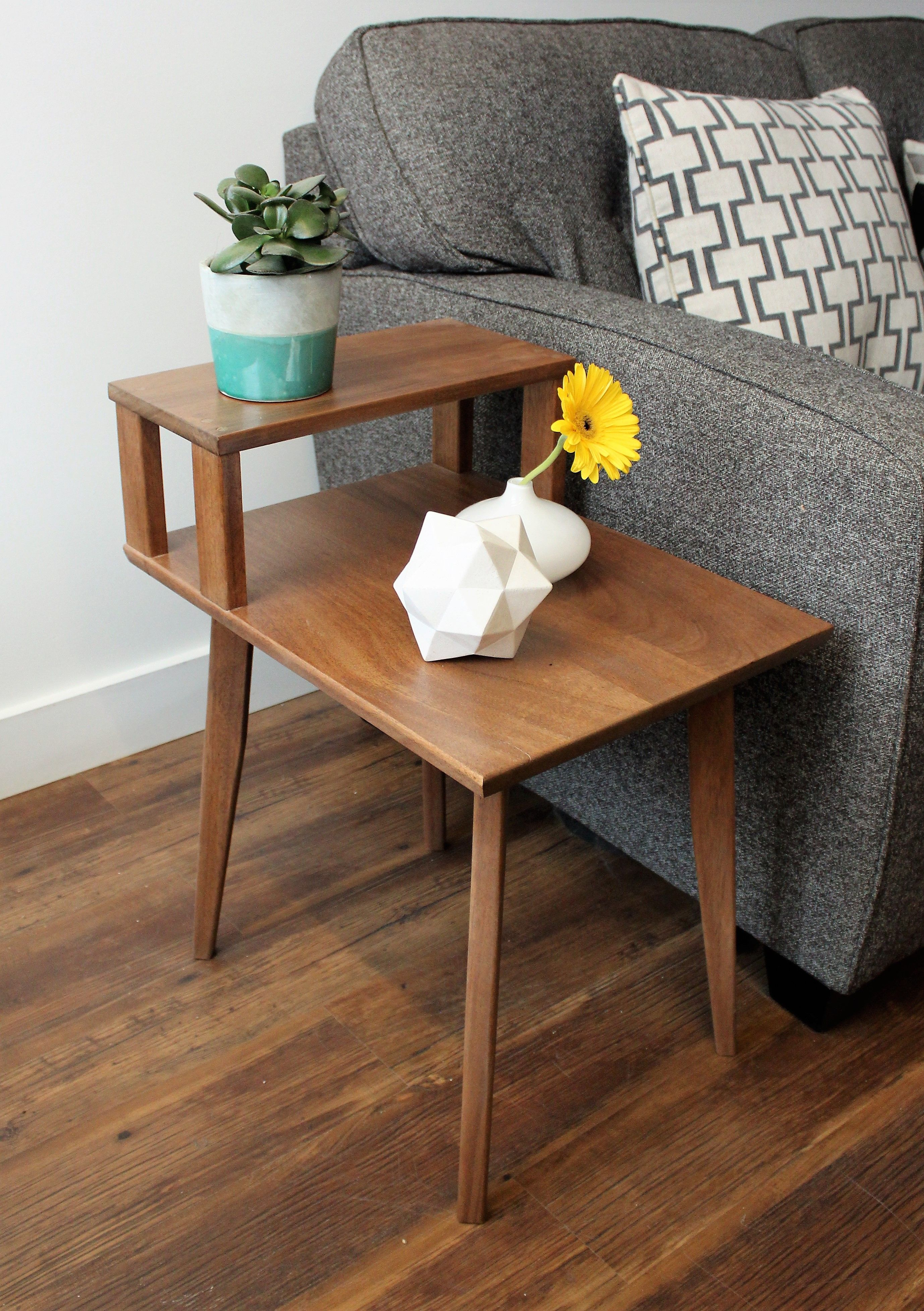 Elwood S Mid Century Modern Telephone Side Table Modern Side Table Mid Century Modern Side Table Small End Tables [ 3911 x 2756 Pixel ]