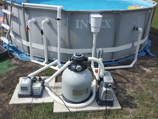 Upgraded Intex 14x42 With Pics Pool Plumbing Pool Hacks Above Ground Pool Landscaping