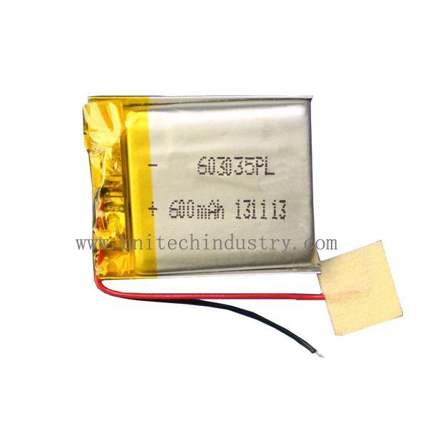 Lipo Battery 603035 600mah Li Polymer Battery Lipo Battery Polymer Lipo