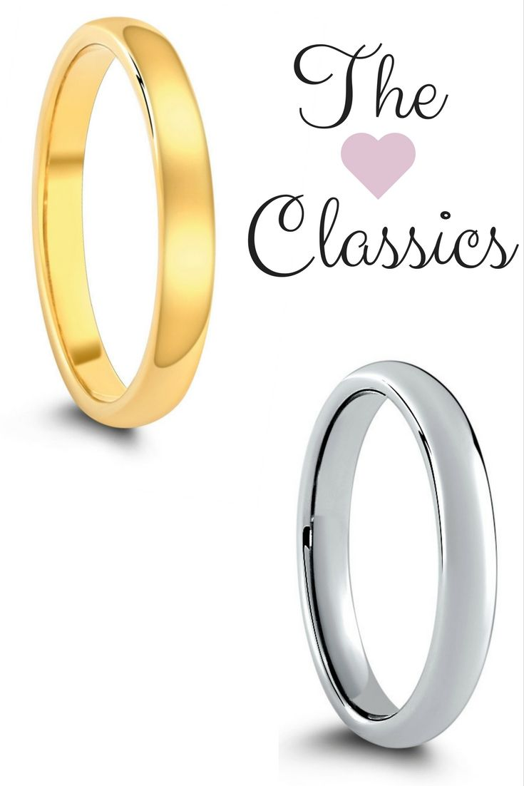 His And Her Matching Wedding Ring Set These Classic Wedding Rings