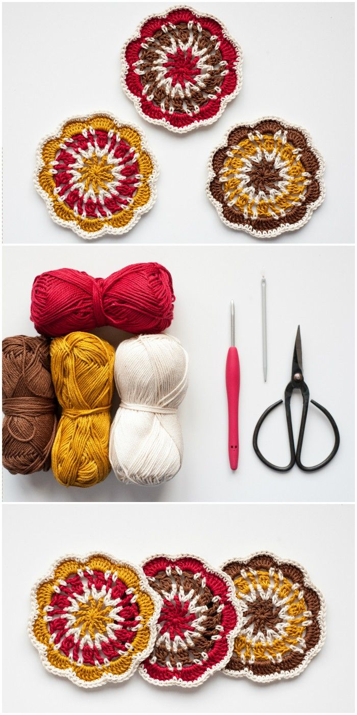 Free Crochet Coaster Patterns For Your Home | Mandalas, Cortinas ...
