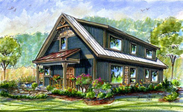 Springtime Homes :: Design Science: New Homes Asheville NC Passive Solar Design  Home Plans