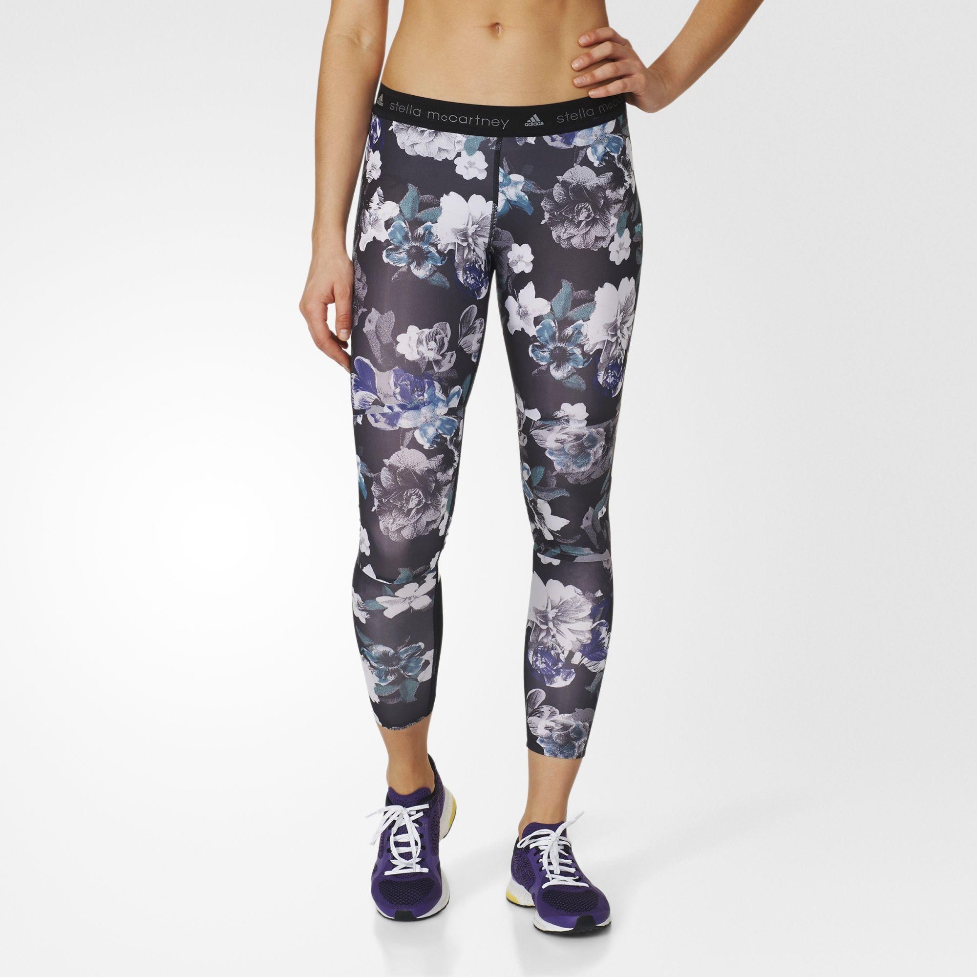 Adidas adizero legginsy oscuras Blossom tights Fit estilo correr
