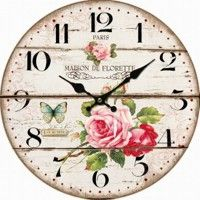 "❤️ French Paris clock with roses ""Maison de Florette"" ~ ZIDNI SAT (null, image/jpeg)"