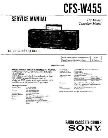 sony cfs w455 service manual service repair manuals pinterest rh pinterest com sony manuals free sony manuals download user manuals