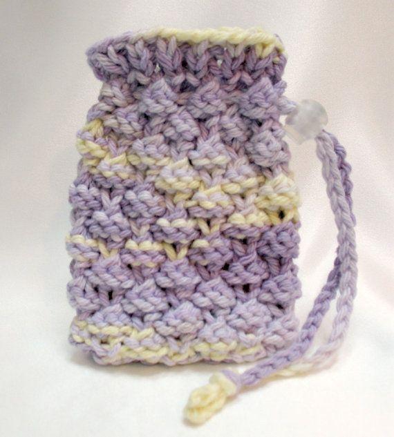 Soap Saver Bag Knit Soap Holder Sack By Sticksnstonesgifts On Etsy
