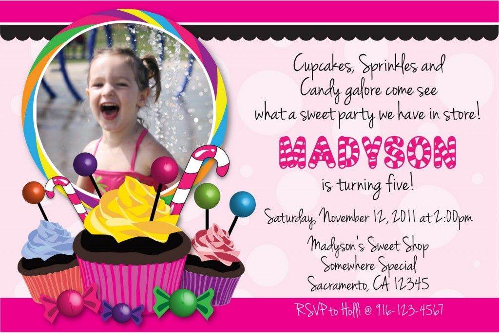candyland birthday party invitation ideas | Sweet | Pinterest ...