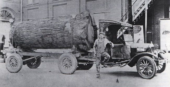 For Model Tt Truck Hauling A Massive Log In Missouri Ford Trucks Lifted Ford Trucks Trucks