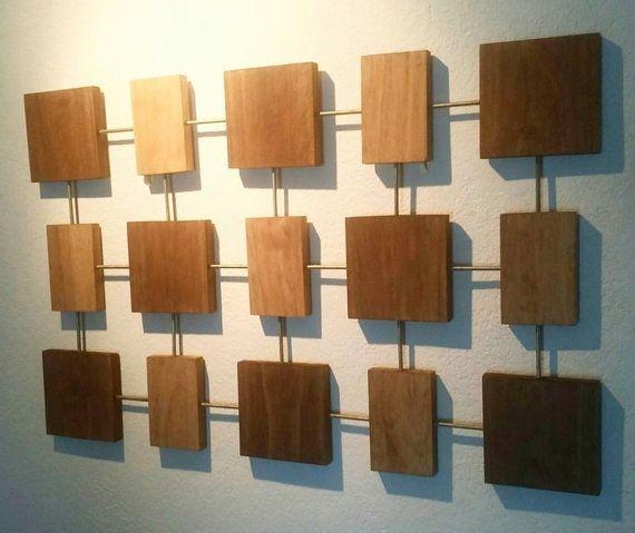 Wood Wall Art Mid Century