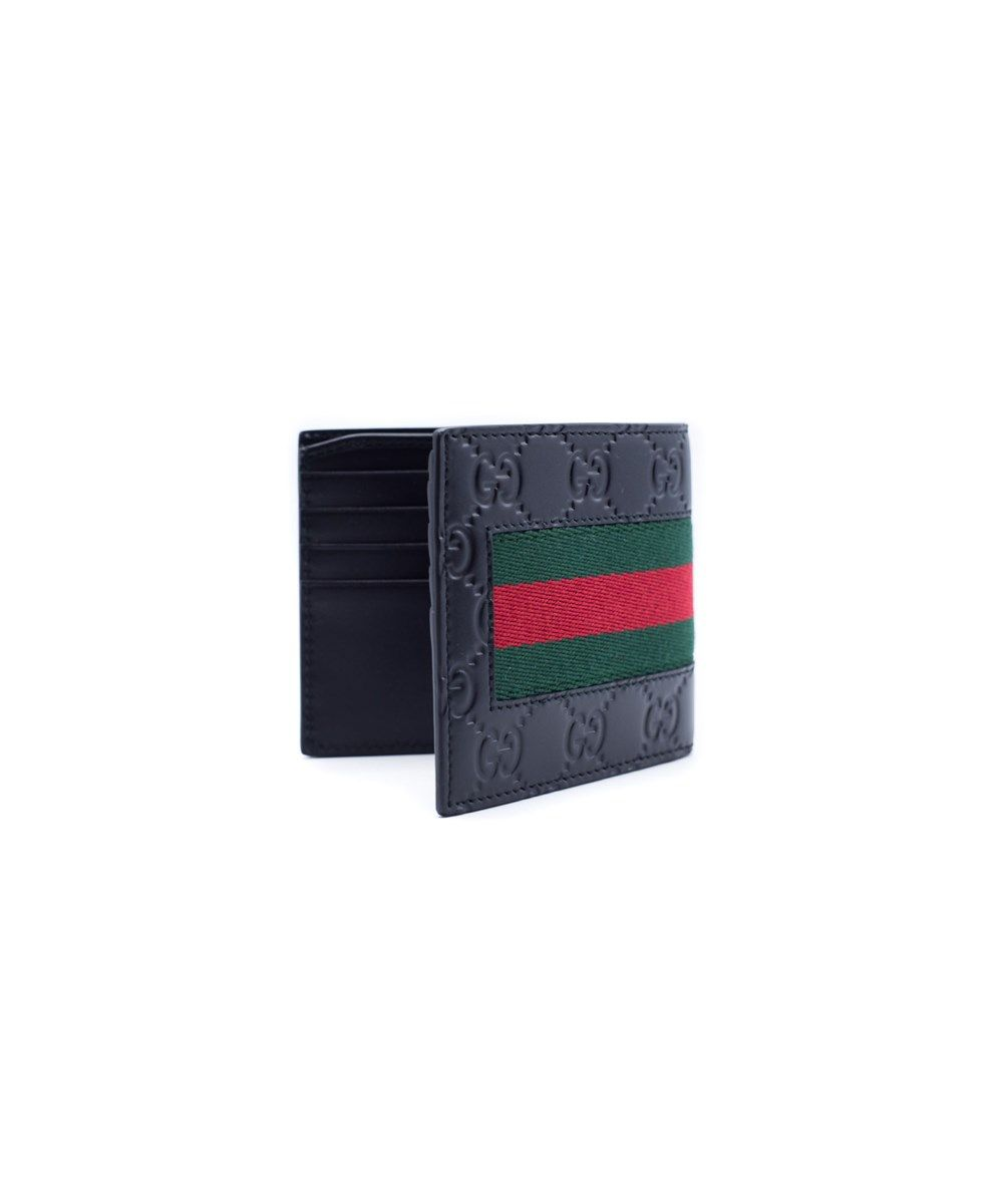 622dbca97eaf GUCCI Gucci Men'S Black Leather Signature Web Wallet'. #gucci #wallets