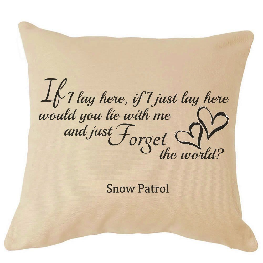 Snow Patrol If I Lay Here Song Lyrics Cushion Great For your Sofa Perfect Gift For Him / Her