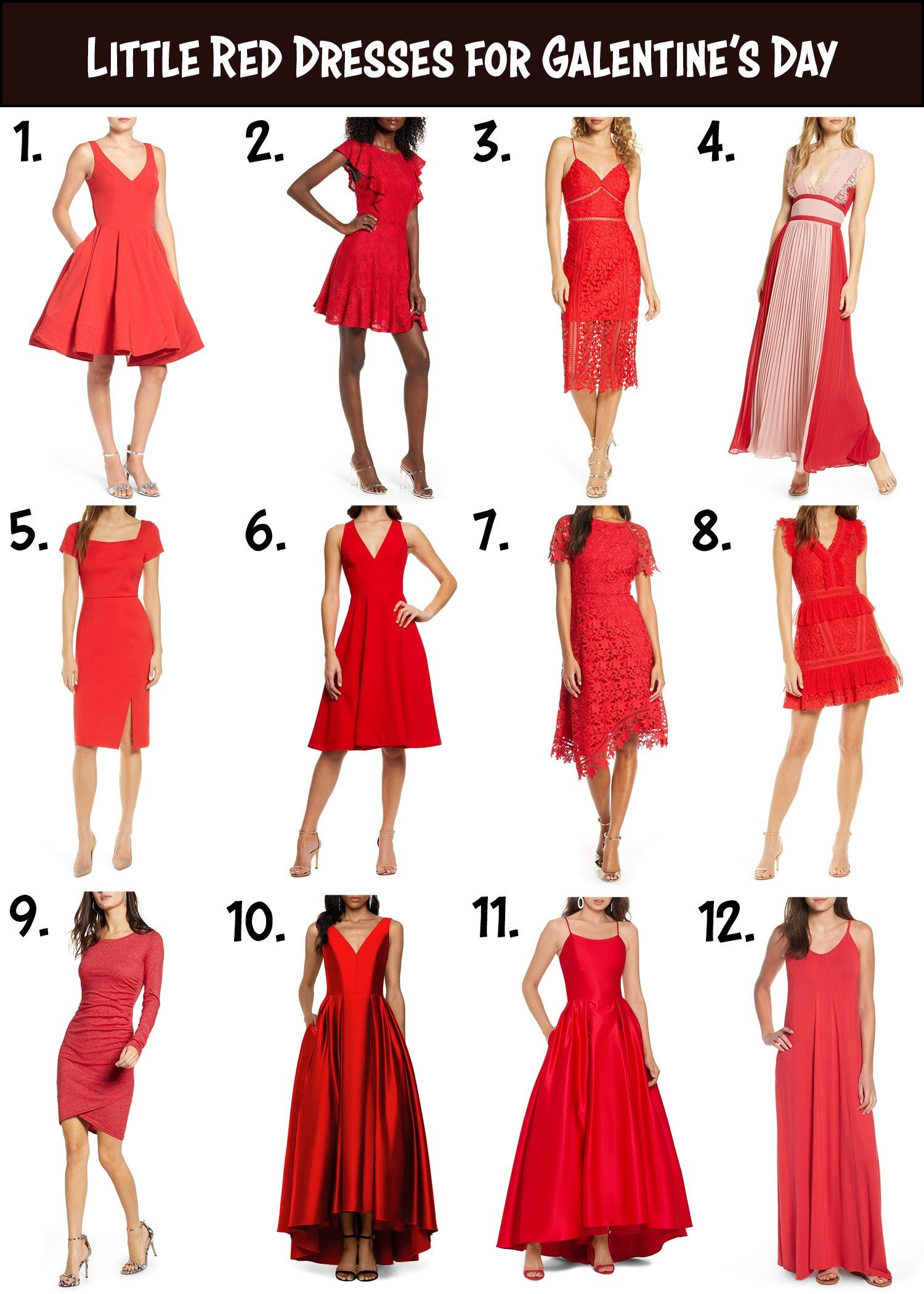 12 Little Red Dresses For Galentine S Day Fashion Dressed To Kill Little Red Dress Red Dresses Classy Red Dress Outfit [ 2100 x 1500 Pixel ]