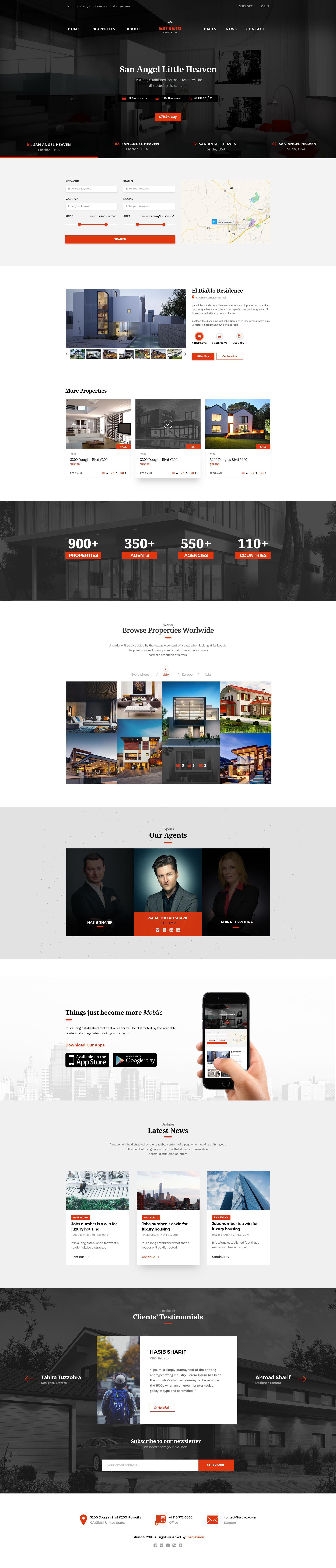 Estreto - Real Estate, Property, Architecture & Construction PSD ...