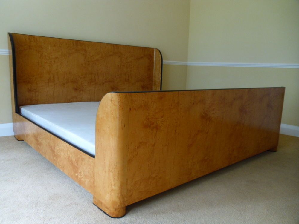 Stunning And So To Bed Art Deco 6ft Super King Sleigh Bed